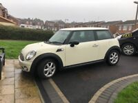 White mini drives lovely , immaculate condition , 2 lady owners , nice clean interior