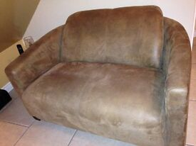 Small mink sofa, perfect , no flaws, brushed Suede