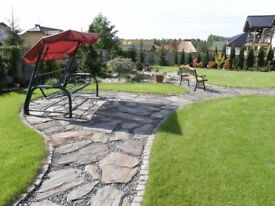 Slate stones, slabs, patio, driveway natural stone