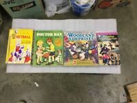 4 very different books 3 children's 1 sport. 2 first editions all in good condition