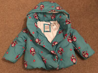 Warm winter coat - John Lewis - 2 to 3 yrs - Brand new with tags