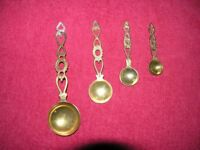 Set 4 Beass Round Measuring Spoons Suit Olde Worlde Cottage