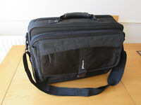 19 inch laptop case with carry strap and additional pockets/storage