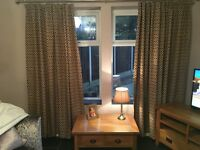 Gold Curtains and cushion covers