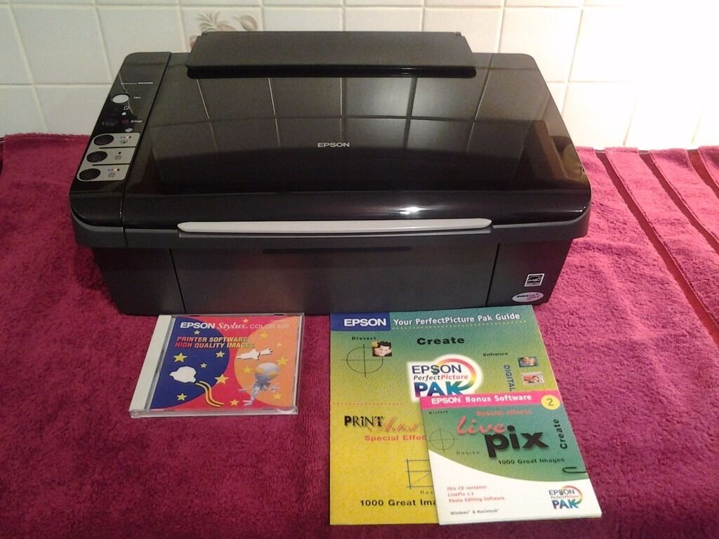 EPSON DX4450-PRINTER/SCANNER/COPIER NOT TESTED-SOLD AS SEEN-AESTHETICALLY IN GOOD CONDITION