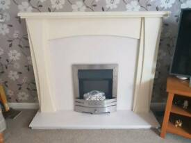 Fireplace and electric fire (complete)