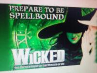2 x Wicked tickets