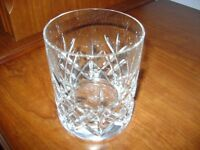 Whiskey crystal glass