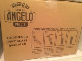 24 Brand New in Original Box Birrificio Angelo Poretti's pint glass