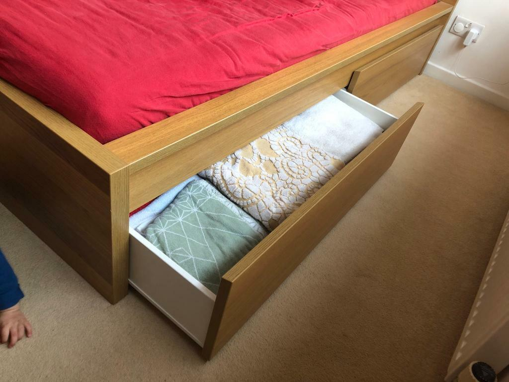 Pair Of Ikea Malm Under Bed Storage Drawers In Warwick