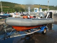 Avon Searider 400. 4 metre RIB. Mariner 40hp. With trailer