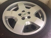 good condition alloys with usable tyres