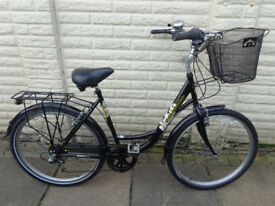 Ladies step through hybrid bike, basket, lights, excellent condition can deliver, *d-lock available