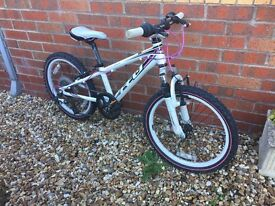 Felt child's mountain bike, would suit 7 to 11 yrs old, Aluminium frame and wheels, great condition,