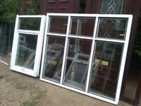 full house clearance of upvc windows with glass / bead / handles / frames etc rubber etc