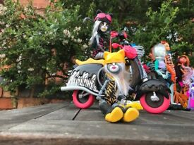 monster high cats with motor cycle