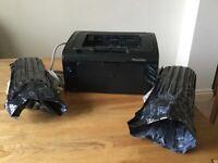 HP laserjet P1102w laser printer 2 spare toner cartridges