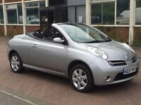 Nissan Micra C+C 1.4 URBIS 2dr Convertible,small luxury car for summer long MOT, clean in and out