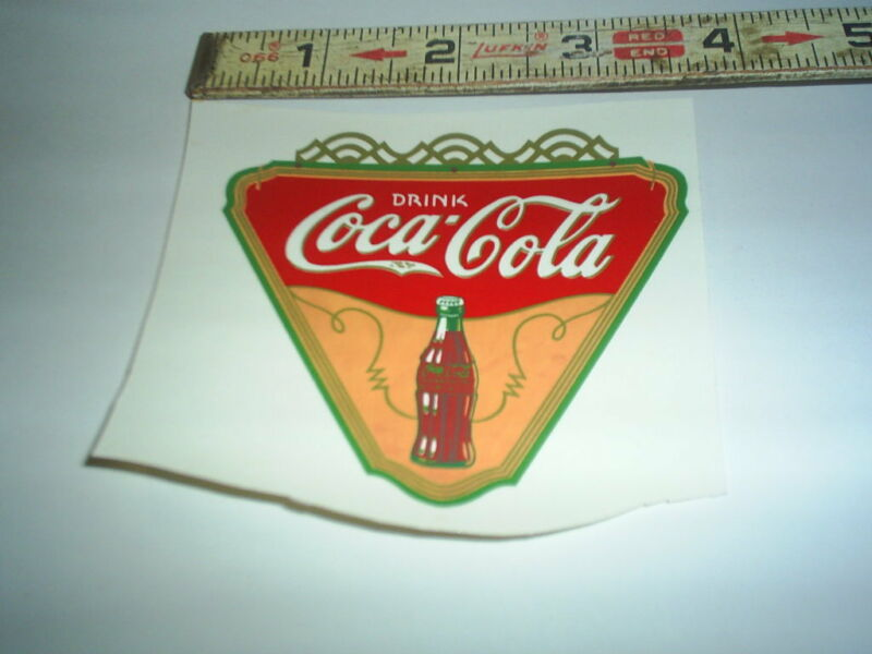 Original Coke Real water decal (new old stock ) C@@L #1 stock#251 OEM