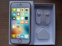 ABSOLUTE MINT CONDITION iPHONE 6 16GB UNLOCKED ANY NETWORK WITH BRAND NEW HEADPHONES CHARGER ETC