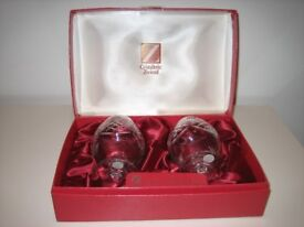 Cristallerie Zwiesel crystal Brandy glass x 2 Brand New