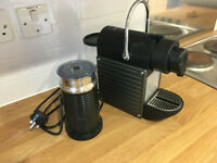 Nespresso Pixie + Aeroccino Milk Frother + free coffee pods
