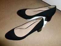 Size 5 black heeled shoes. Not too high and not too low only worn once.