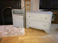 Chest of drawers and bedside unit