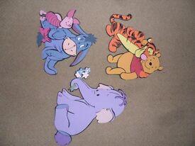 Winnie the Pooh 3D foam wall art decorations x 3