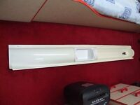 Shower doors and fittings removed from caravan