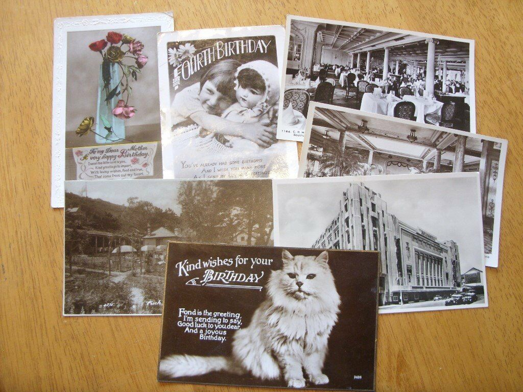 Wanted Old Black White Postcards Loose Or In Albums And Vintage