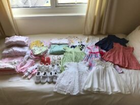 Bundle of Baby Girl Clothes 3-6 Months (More Clothes in Additional Photos)