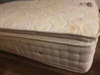 Mattress - king size, pocket sprung with a memory foam topper