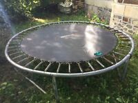 10ft Trampoline - Free to collector. Includes poles and netting surround (not shown)