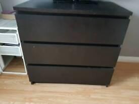 Black ikea drawer
