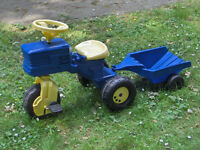 Toy Tractor and Trailer sit on #FREE LOCAL DELIVERY#
