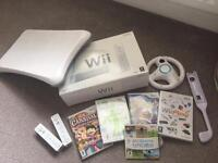Wii fit with balance board, controllers games
