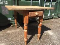 Antique pine drop leaf table