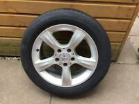 """Mercedes Benz 16"""" alloy wheels."""