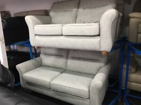 New/Ex Display John Lewis Grey 3 + 2 Seater Theodore Sofas