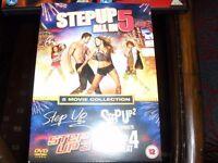 stepup 1 to 5 dvd boxset