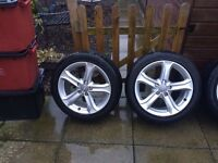 "4x17"" Audi Teknik Alloys and 2 brand new tyres"