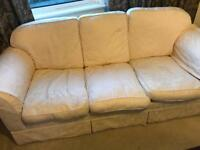 Cream Laura Ashley sofa available FOR FREE!