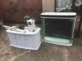Fish tank and cabnet