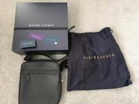 Brand New Ralph Lauren Leather Flight Bag