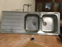 Double Kitchen Sink with Mixer Tap