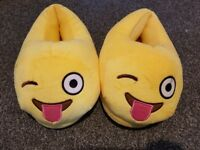 Slippers Emoji approx adult size 4/5