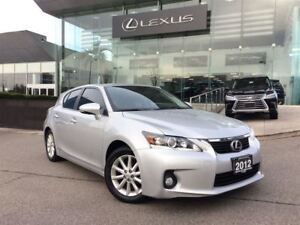 2012 Lexus CT 200h 1 Owner Bluetooth Power Seats Leather Heated