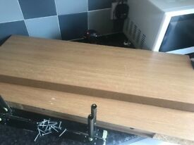 Oak floating shelves 80cm x2