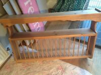 Pine plate rack.
